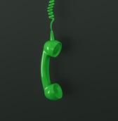 téléphone vert décroché