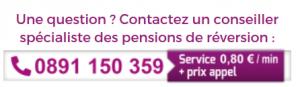 numéro téléphone conseiller pension réversion